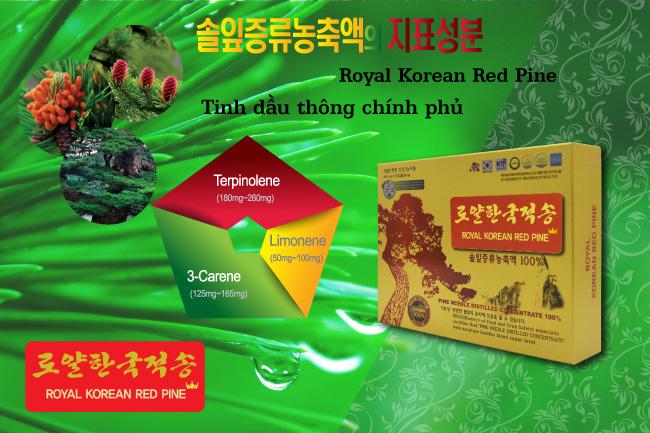 Tinh dầu thông đỏ Chính phủ - Royal Korean Red Pine